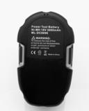 NiMh accu/batterij, 3000 mAh, 18V, voor DeWalt DC9096, etc_