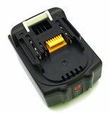 makita powertool battery, 18V, top-back