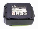 makita powertool battery, 18V, bottom
