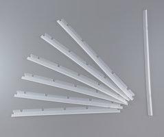 Set met 6 rubberstrips en één wisser voor de Neato XV standaard borstel