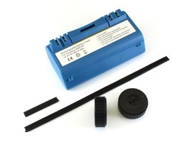 NiMh batterij 4800 mAh voor Scooba (385, 5800, etc) met 2 wieltjes en rubberstrips