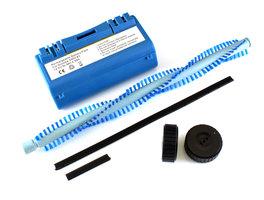 NiMh batterij 4800 mAh voor Scooba (385, 5800, etc) met 2 wieltjes, borstel en rubberrandjes