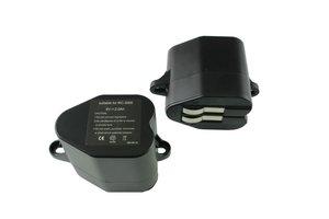 Set van 2 NiMh accu's, batterijen, 2000 mAh, voor Kärcher RC 3000, RC 4000, Siemens VSR 8000, etc.