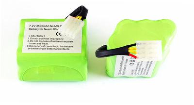 Set van 2 NiMh accu's, batterijen, 3500 mAh, voor Neato XV en Signature reeks