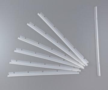 Set met 6 rubberstrips en 1 wisser voor de Neato XV standaard borstel