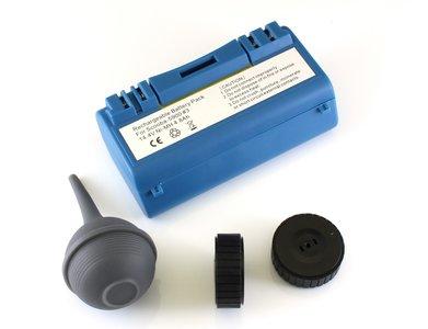NiMh batterij 4800 mAh voor Scooba (385, 5800, etc) met 2 wieltjes en zuigbol